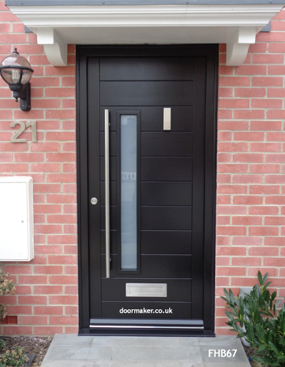 black contemporary door