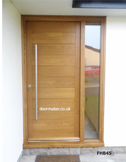 Contemporary Front Doors, oak iroko and other woods, Bespoke Doors