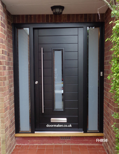 Contemporary front doors oak iroko and other woods for Front door frame designs