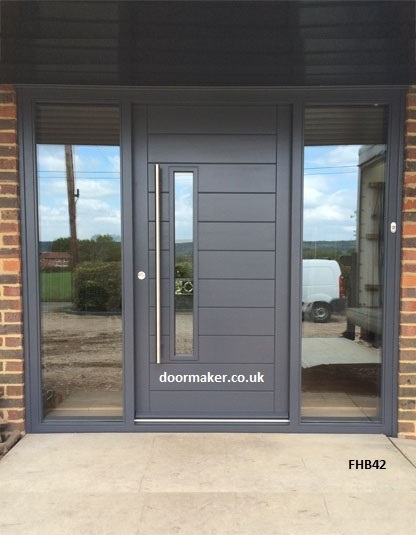 Contemporary front doors oak iroko and other woods for Contemporary exterior doors