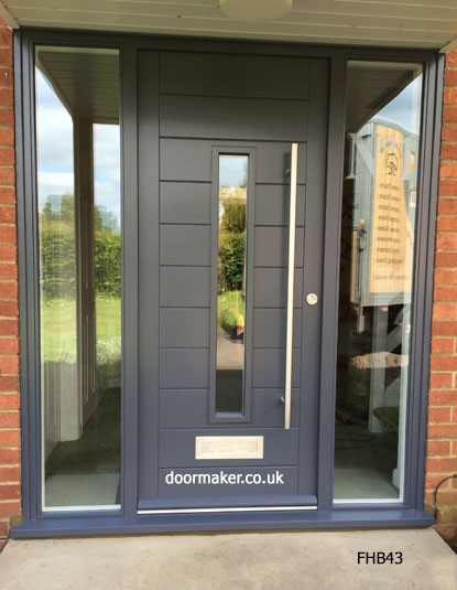 Contemporary front doors oak iroko and other woods Modern white front door