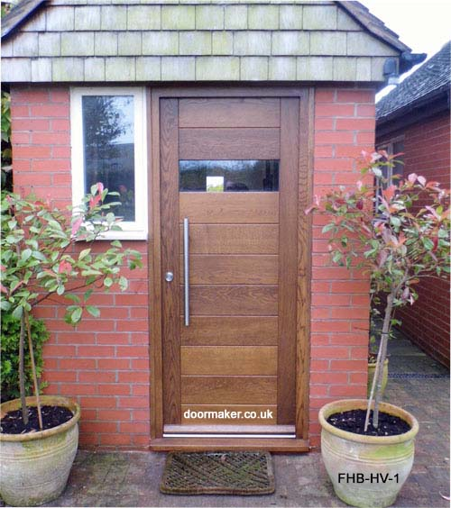 contemporary oak door horizontal vision panel