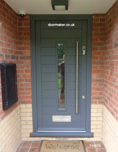 slate grey contemporary door