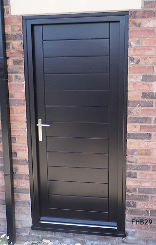 black contemporary door black