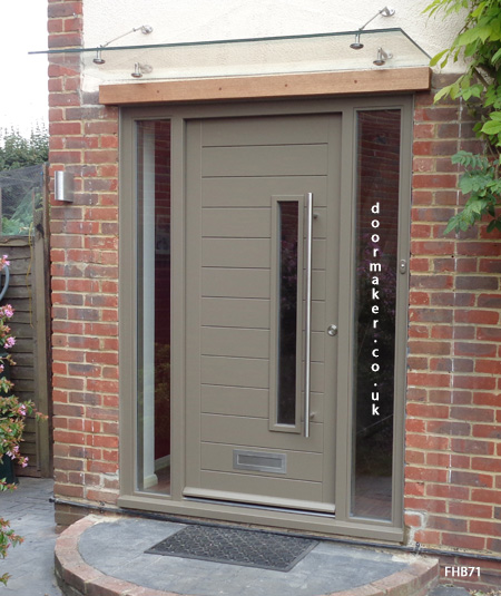 contemporary door beige grey