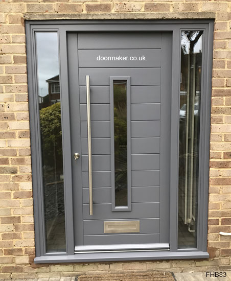 contemporary gallant grey door