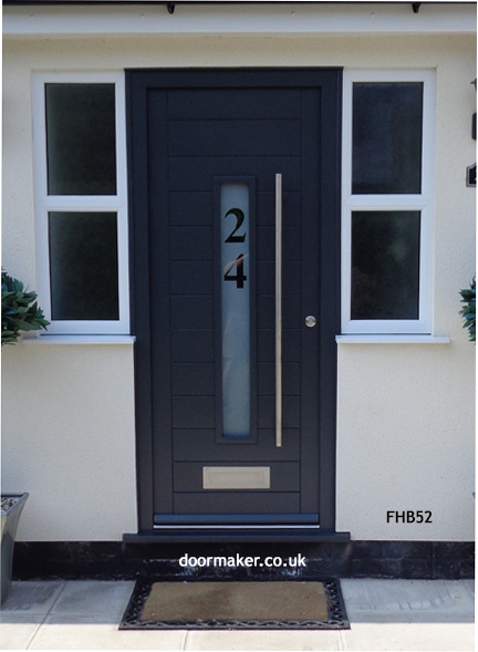 contemporary grey front door