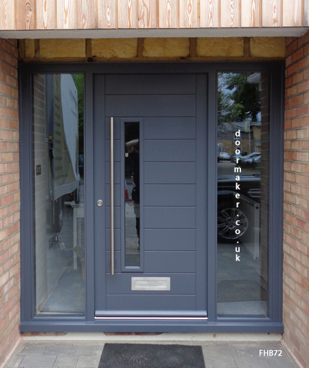 contemporary door slate grey
