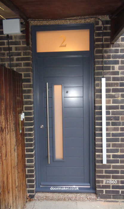contemporary slate grey door