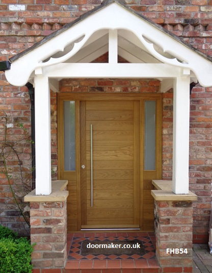 contemporary oak door part glazed sidelights
