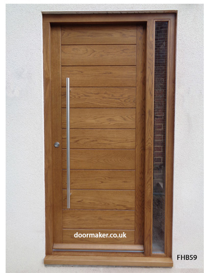 contemporary oak door and frame sidelight