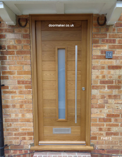 oak contemporary door centre vision panel