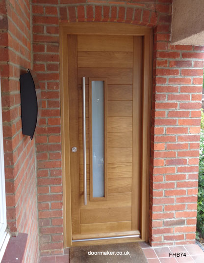 oak contemporary door left vision