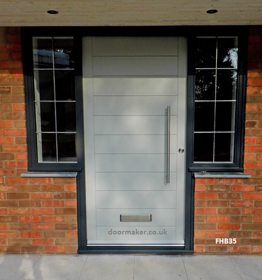 white contemporary door grey frame