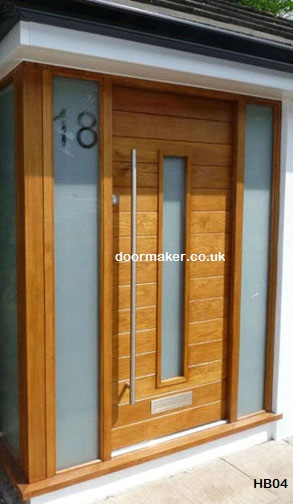 contemporary door sandblasted glass