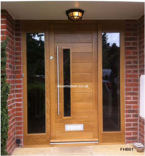 Contemporary front doors oak iroko and other woods for Oak front doors