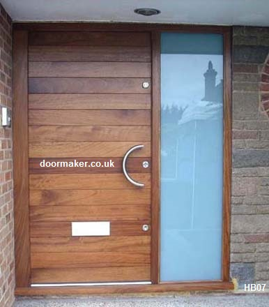 Contemporary front doors oak iroko and other woods for Large front entry doors