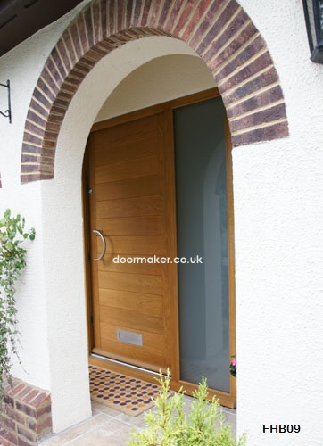 contemporary door half moon handle