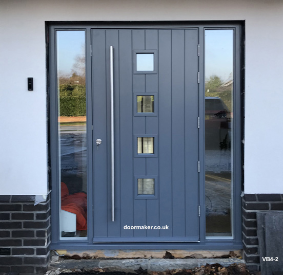 contemporary door basalt grey