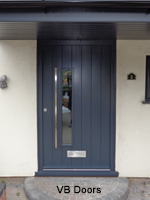 contemporary vertical board doors