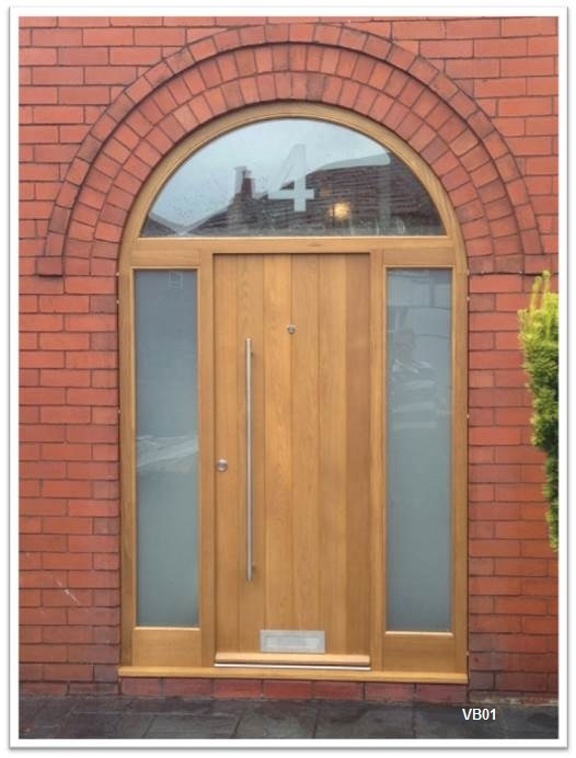 contemporary door vertical boarded