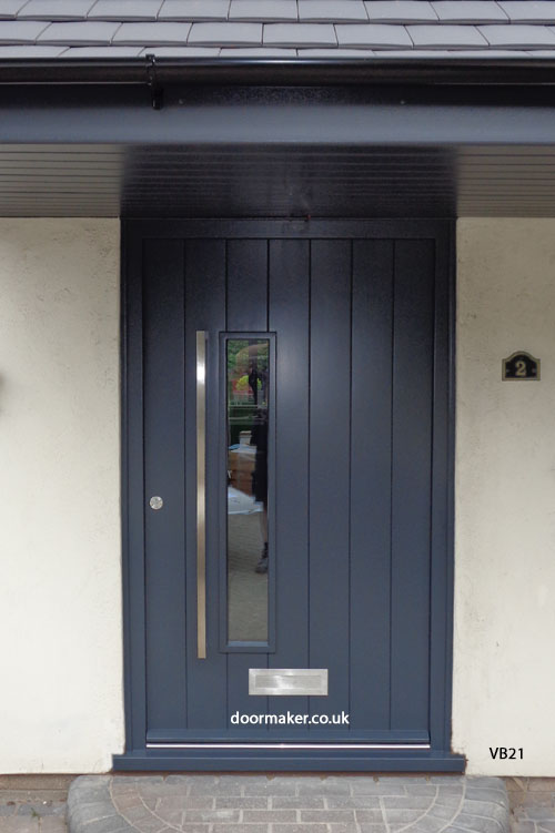 grey contemporary door and frame