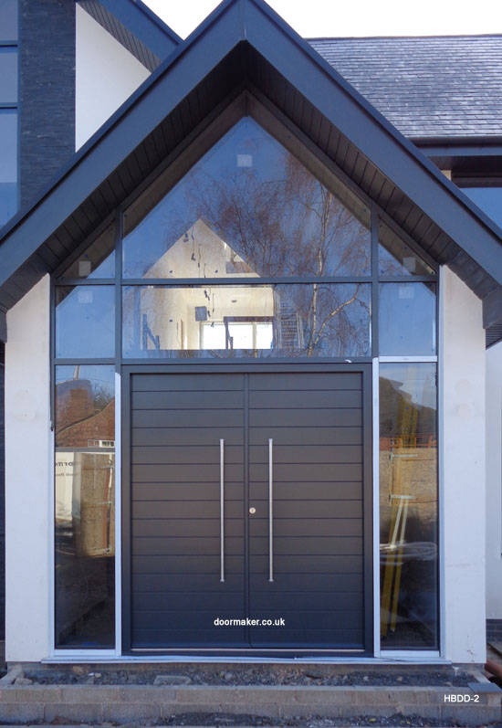 grey contemporary double doors