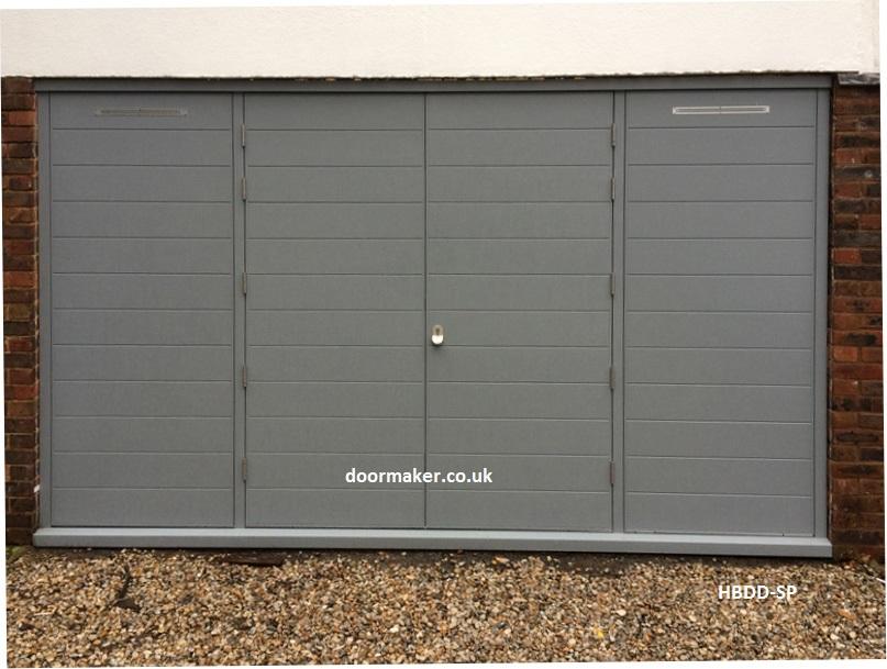European Oak 4 Pane Contemporary Double Doors