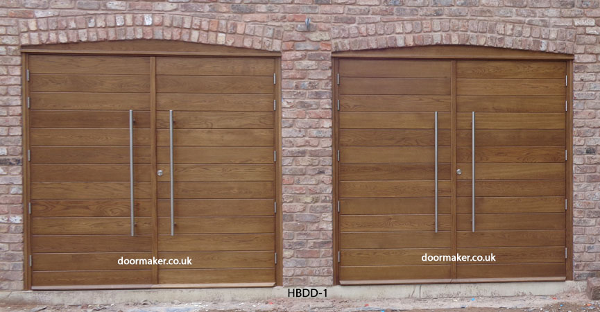 contemporary garage doors oak