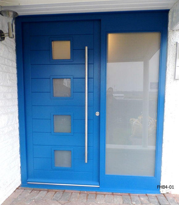 contemporary four pane door