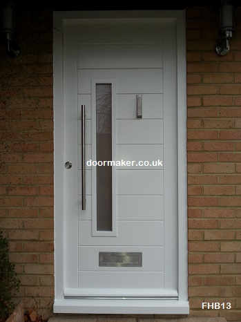 white contemporary door