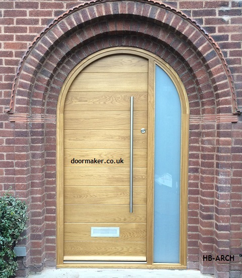 Arched composite front doors