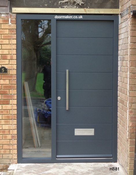 anthracite grey contemporary doorset