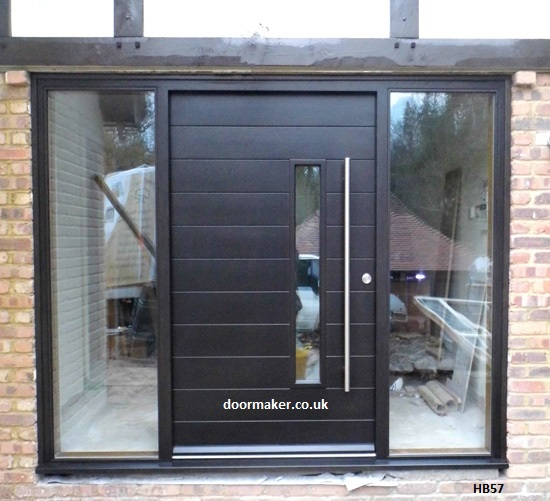 contemporary oak door ebony
