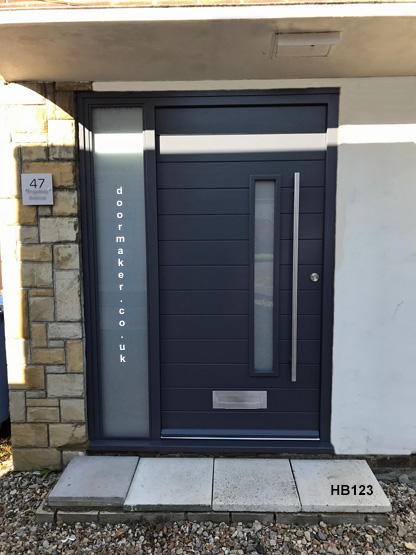 contemporary style door and frame