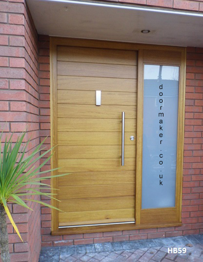 iroko contemporary door