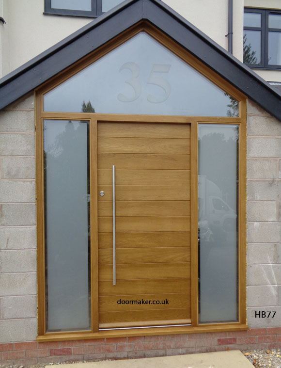 contemporary oak door apex