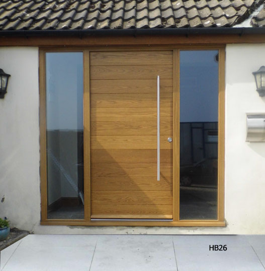 european oak contemporary doorset