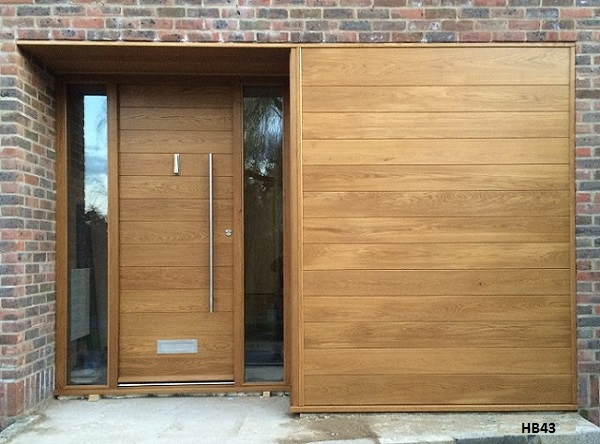 oak door with sidelights