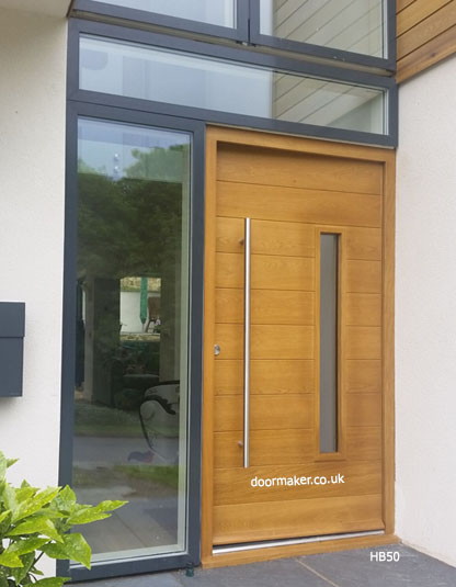 contemporary oak door
