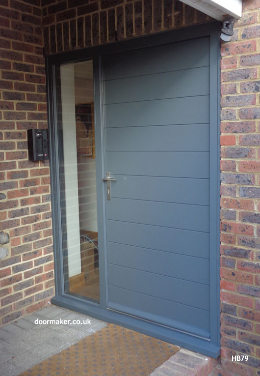 grey contemporar doorset