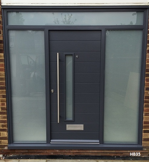 slate grey contemporary doorset