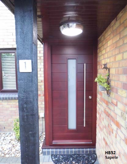 contemporary front door mahogany type
