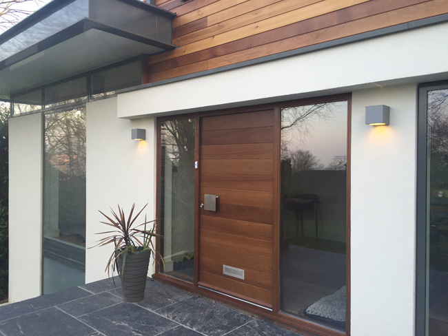 contemporary door iroko