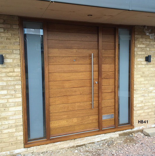 iroko contemporary doorset