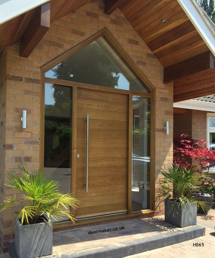 contemporary oak door apex frame