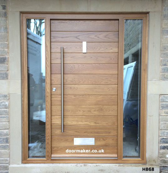 Contemporary front doors oak iroko and other woods for Hardwood entrance doors