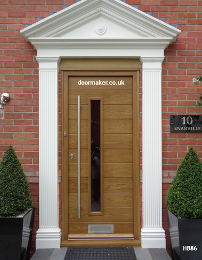 contemporary oak door and frame