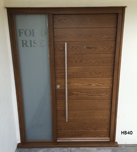 oak contemporary door and frame