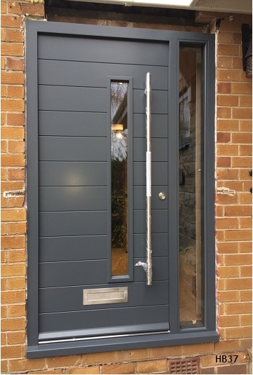 Contemporary front doors oak iroko and other woods for External doors and frames
